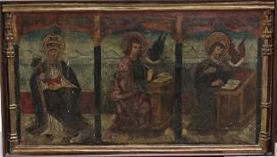 Catalan artis, 15th Century, Three evangelists in