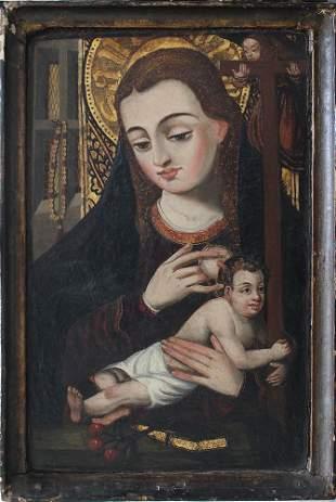 School of Avignon 15th/16th Century, Maria with Jesus