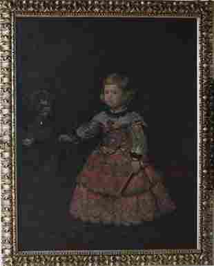 Diego Velazquez (1599-1660)-follower, Portrait of the