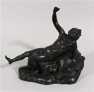 In Italian bronze scultpture in ancient manner of a