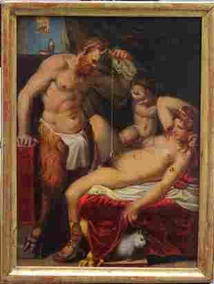 Agostino Carracci (1557-1602)-school, Satiro muratore,