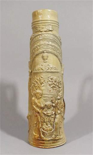 German ceramic tankard, round conic shape with one