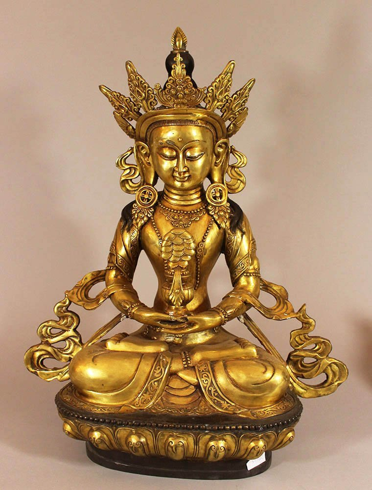 Large Bronze sculpture of the Godness Tara, in