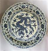 Exceptional large Chinese porcelain bowl, multiple