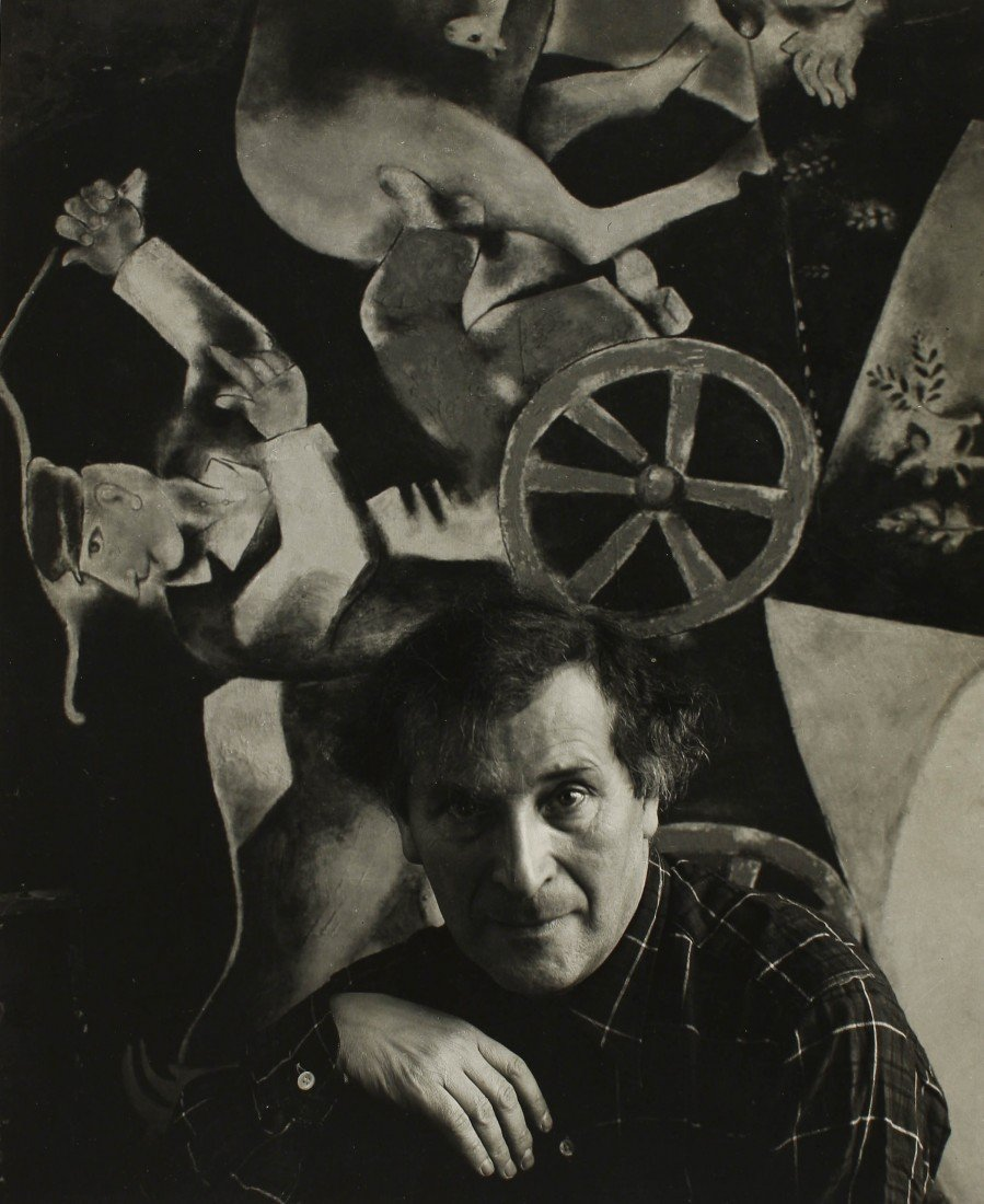 17   Arnold Newman  Marc Chagall, 1941. Gelatina de pl