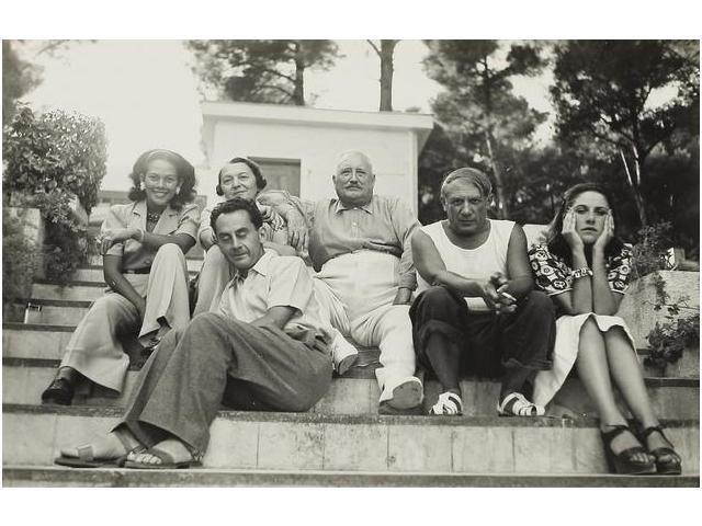 5: Man Ray, Ady, el señor y la señora Cuttoli, con Pica