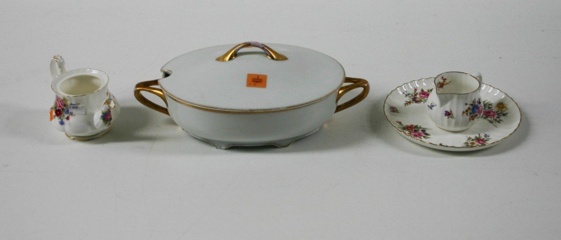 1: A white and gilt Rosenthal Soup Tureen and cover, 15