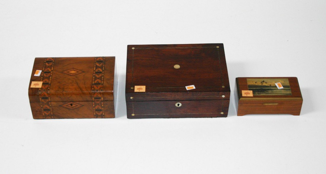 6: A rosewood and brass inlaid Lap Desk, early Victoria