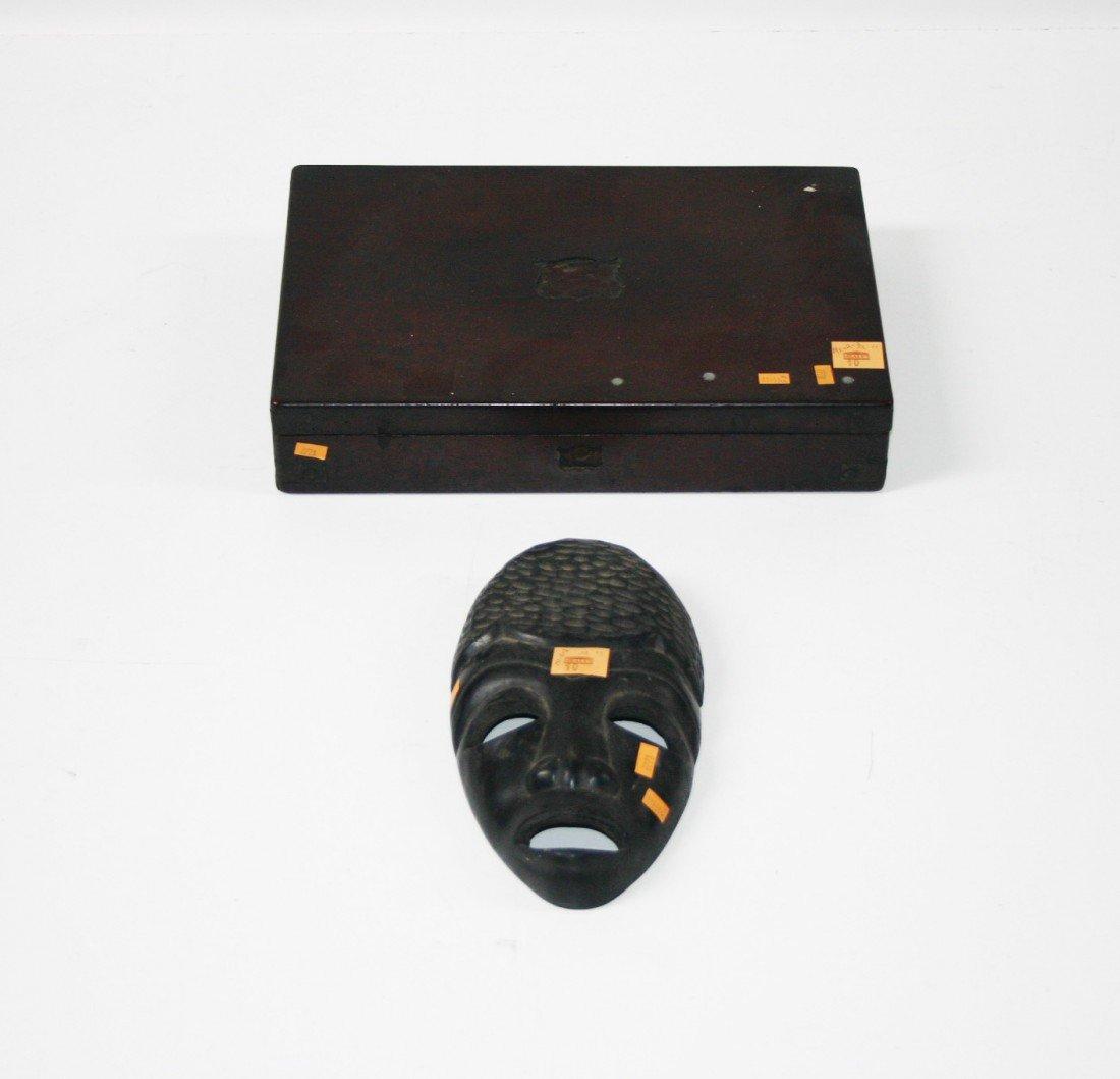 10: A brass bound mahogany Pistol Box, 19th Century, in