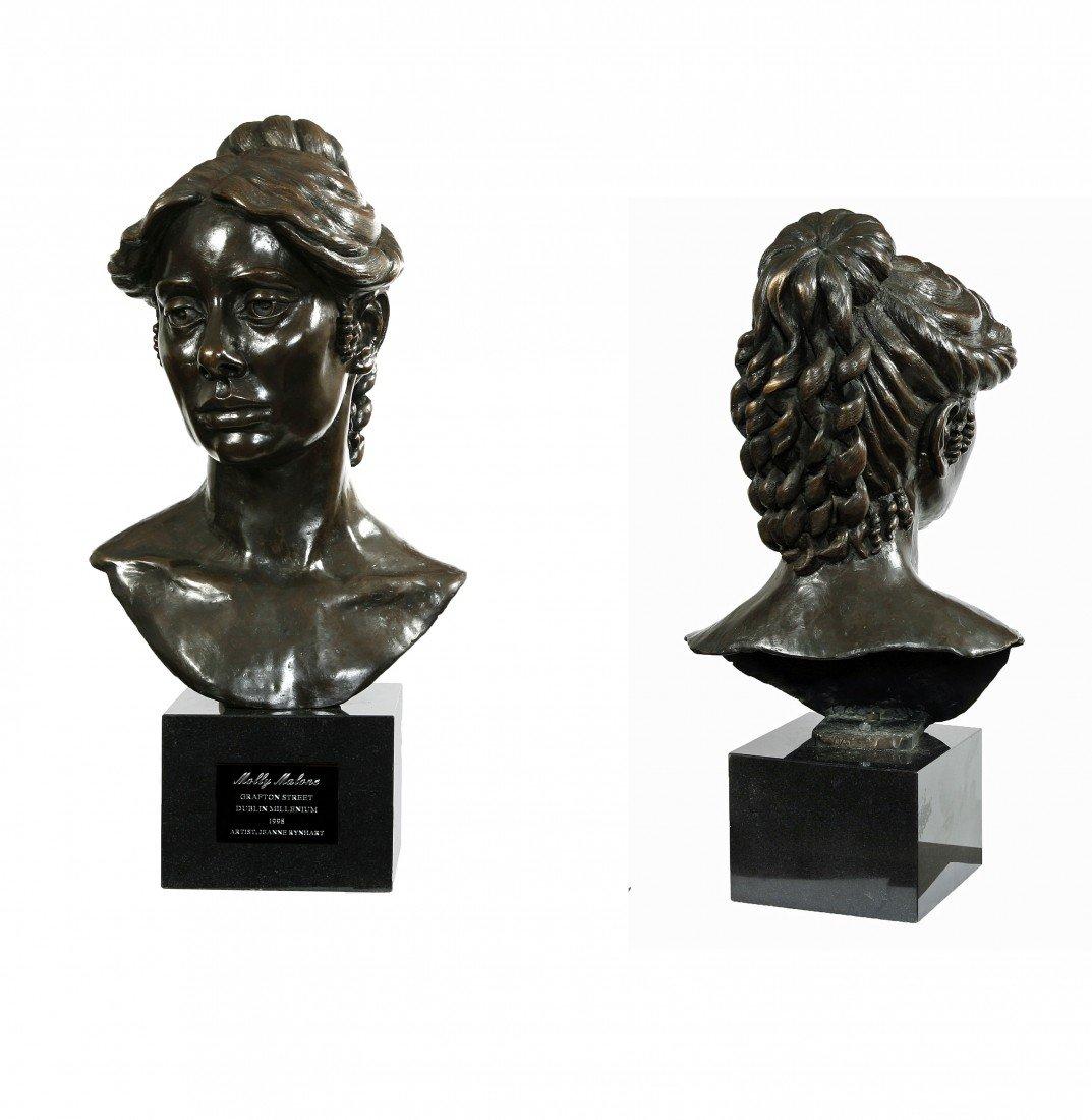"543: Jeanne Rynhart ""The Head of Molly Malone,"" a bronz"