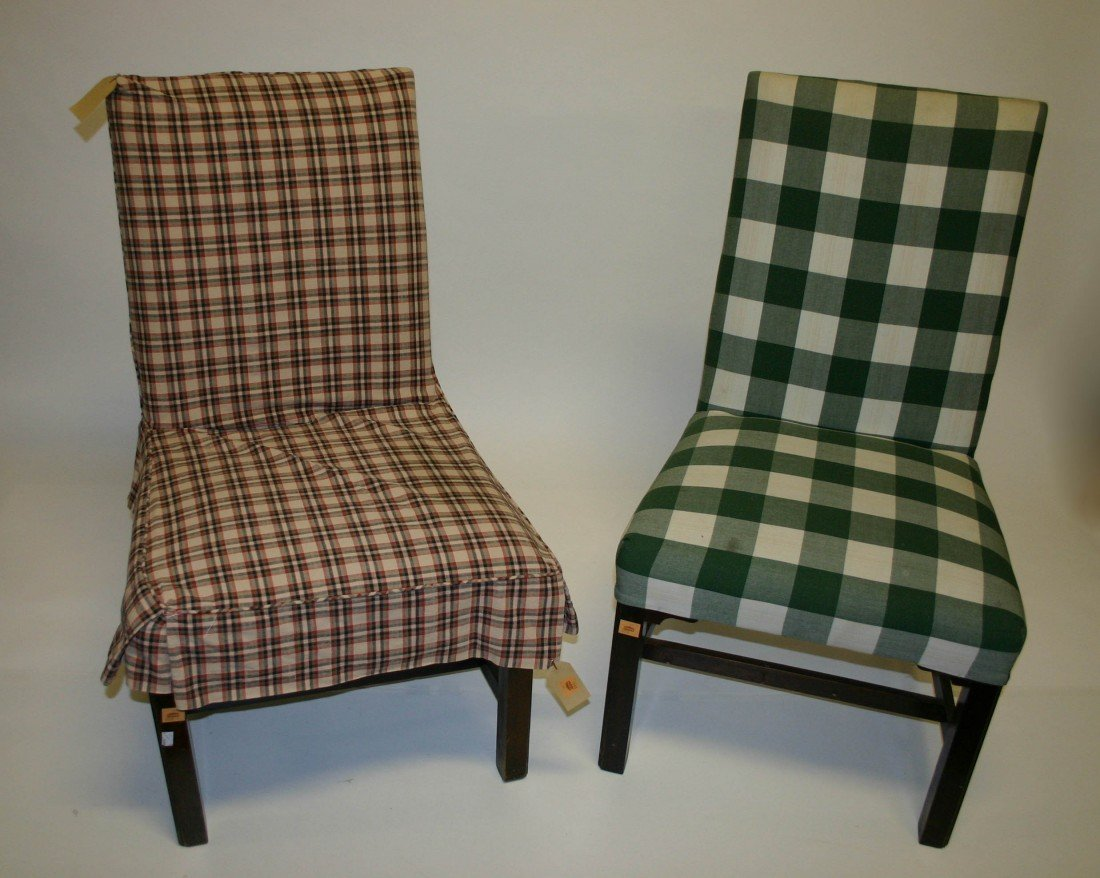 604: A pair of Side Chairs, in the Georgian style, upho