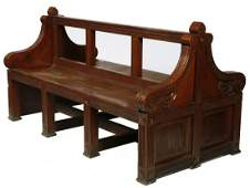 939: A double sided back to back mahogany Art Gallery o
