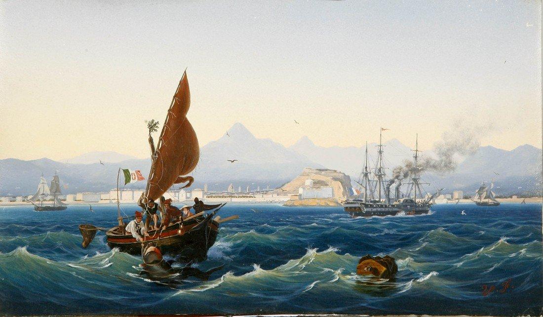 "1075: Vincent Stephen Fossat (1882-1891) ""Steam Ship in"