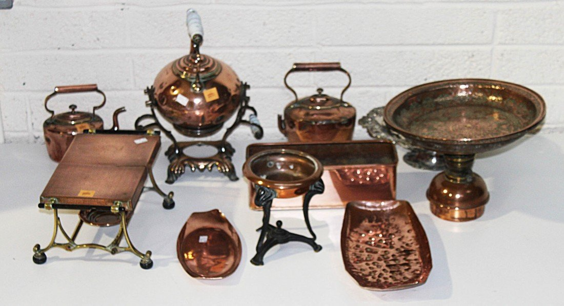 17: A collection of miscellaneous Copper, comprising th