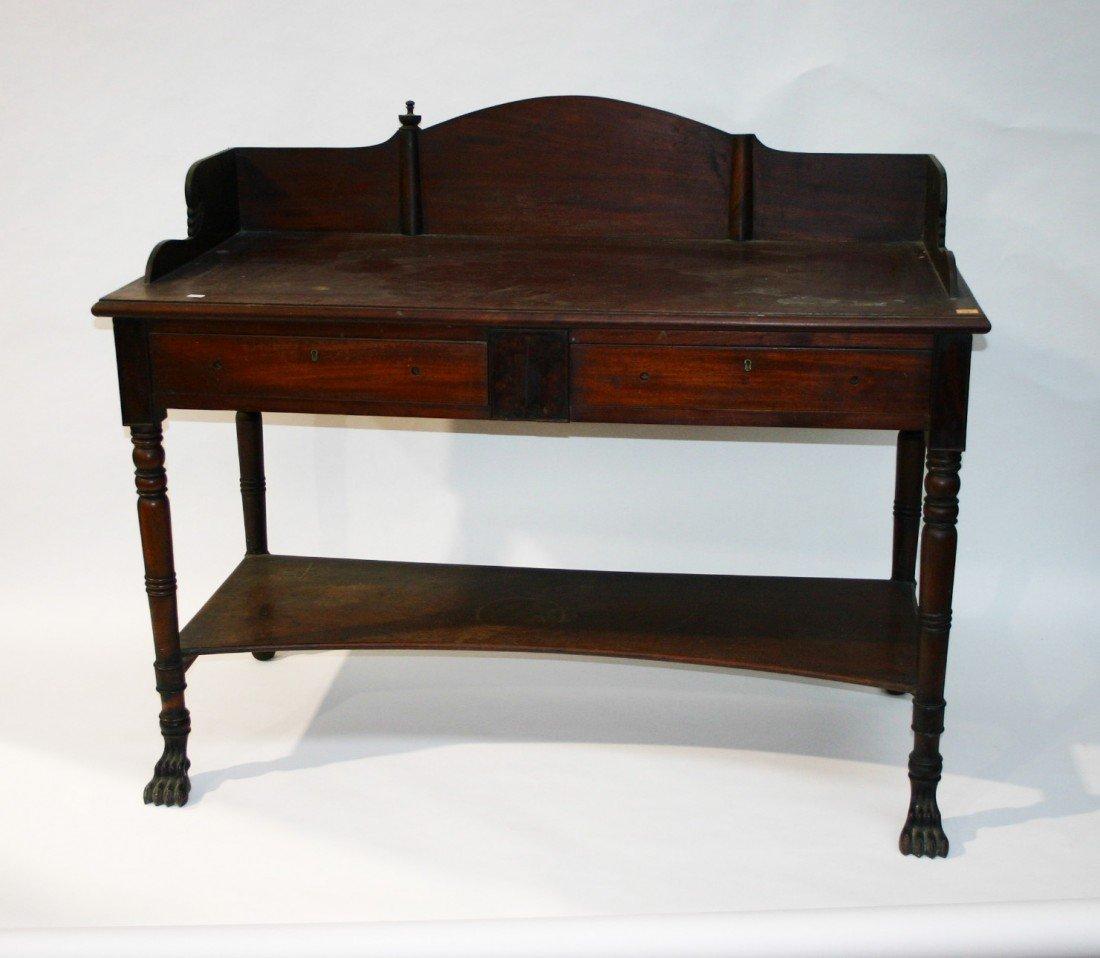705: A mahogany Serving Table, William IV period, proba