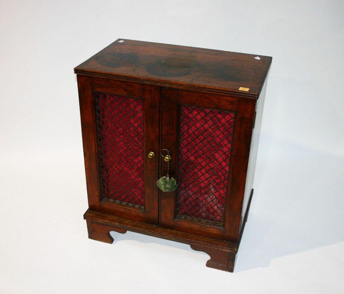716: A mahogany Side Cabinet, George IV period, of smal