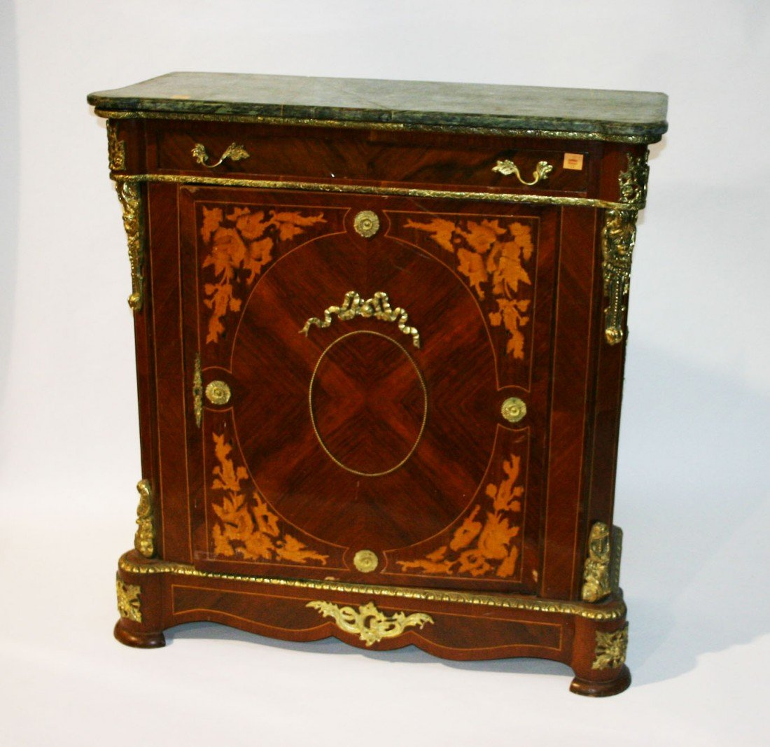 720: A pair of kingwood and marquetry Side Cabinets, 20
