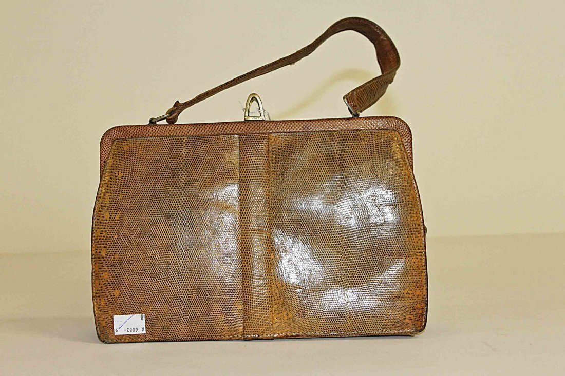 8: A good reptile skin ladies vintage hand bag, by Mapp