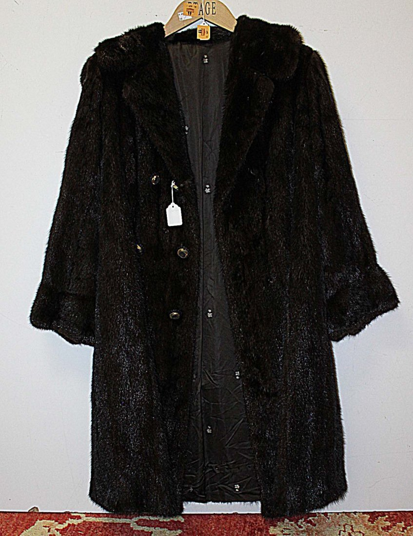 "17A: A bleached mink double collar, 51"" (130cms); toget"