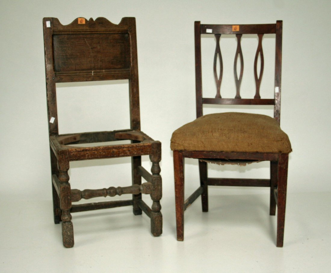 706: An oak side chair, in the 17th century style, with