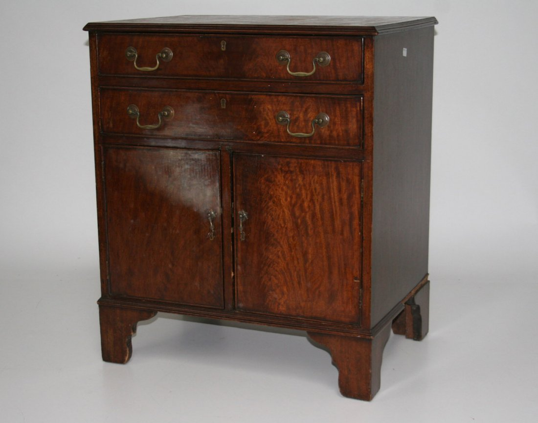 721: A mahogany chest cupboard, in the George III style