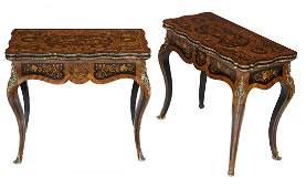 1057: An exceptional pair of serpentine shaped kingwood