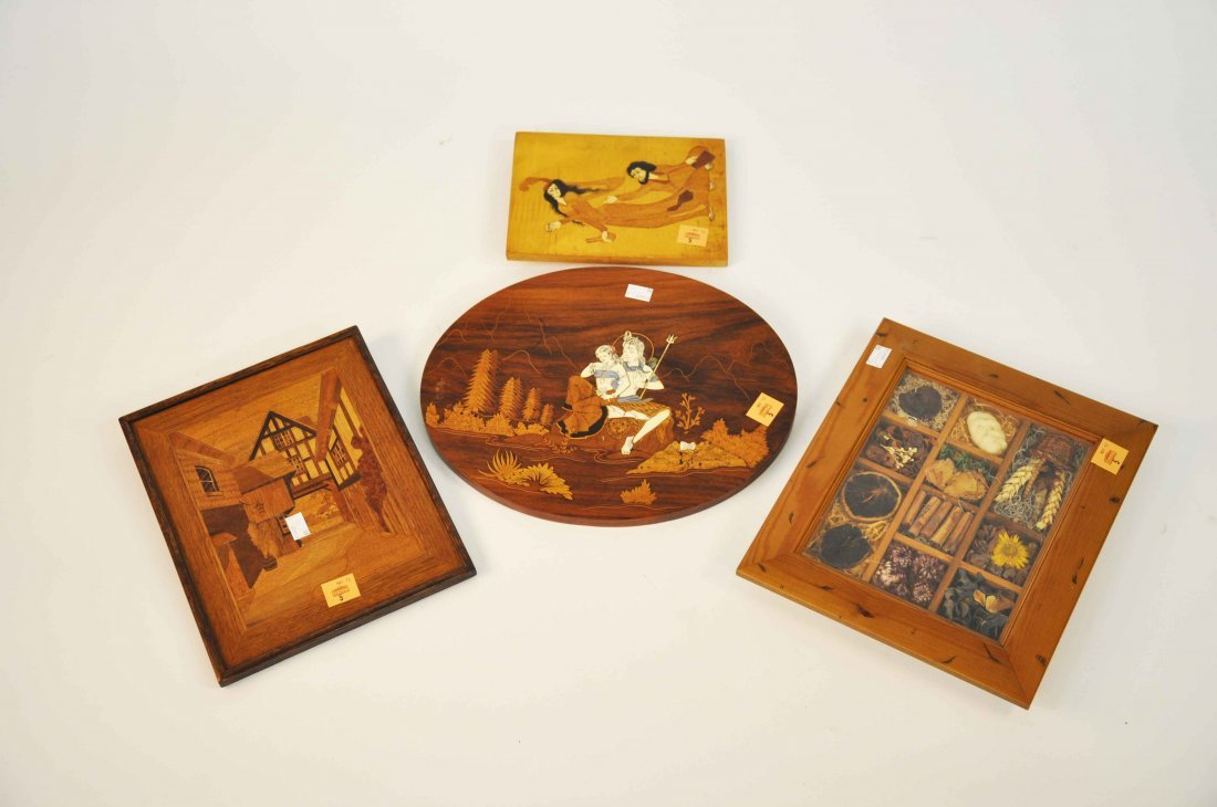 5: A collection of miscellaneous marquetry work panels,