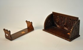 A Killarney Yew Wood Book Stand With Marquetry Inl