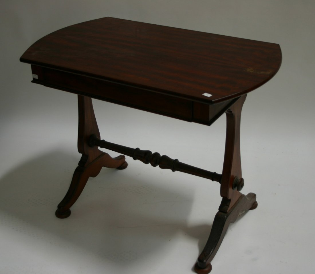 630: A mahogany side table, 19th century, the rectangul