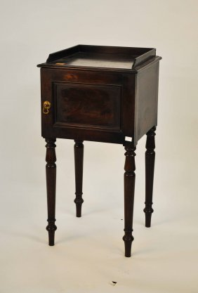 A Mahogany Bedside Pot Cupboard, William IV Style,