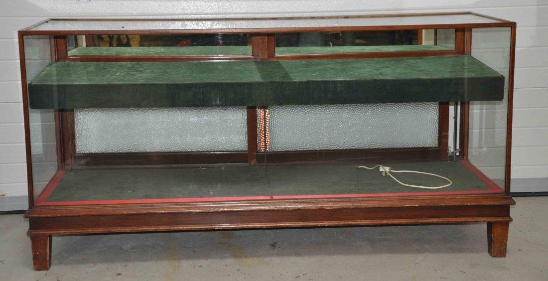 886A: A pair of rectangular mahogany shop counter displ