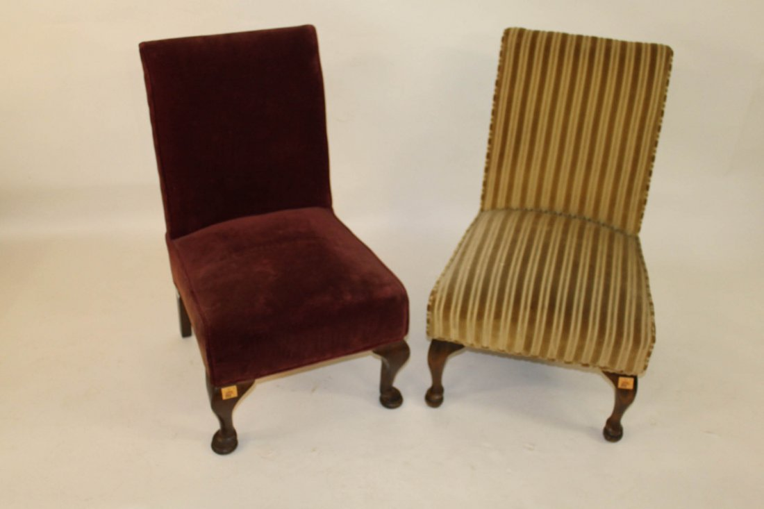 896: Two similar Bedroom Chairs each with a padded back