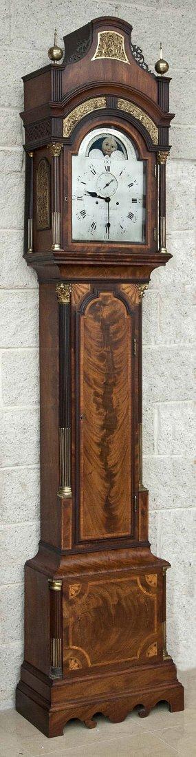 1087: A mahogany longcase clock, by Robert Roskell of L