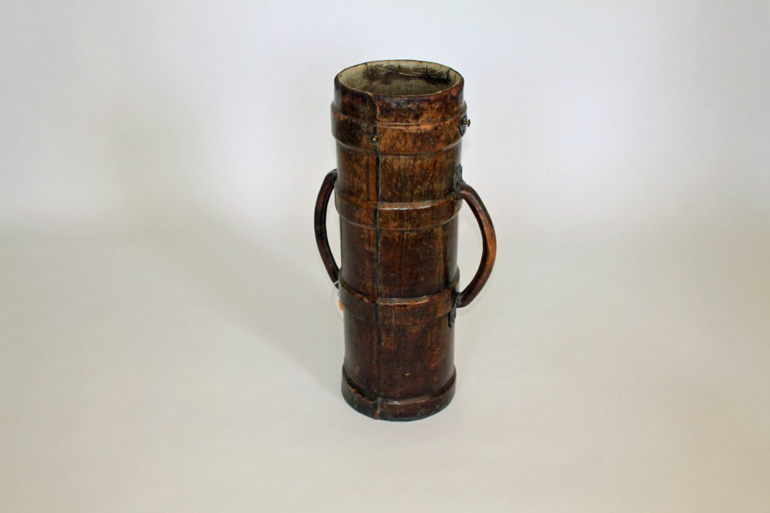 1: A leather Shot Carrier,