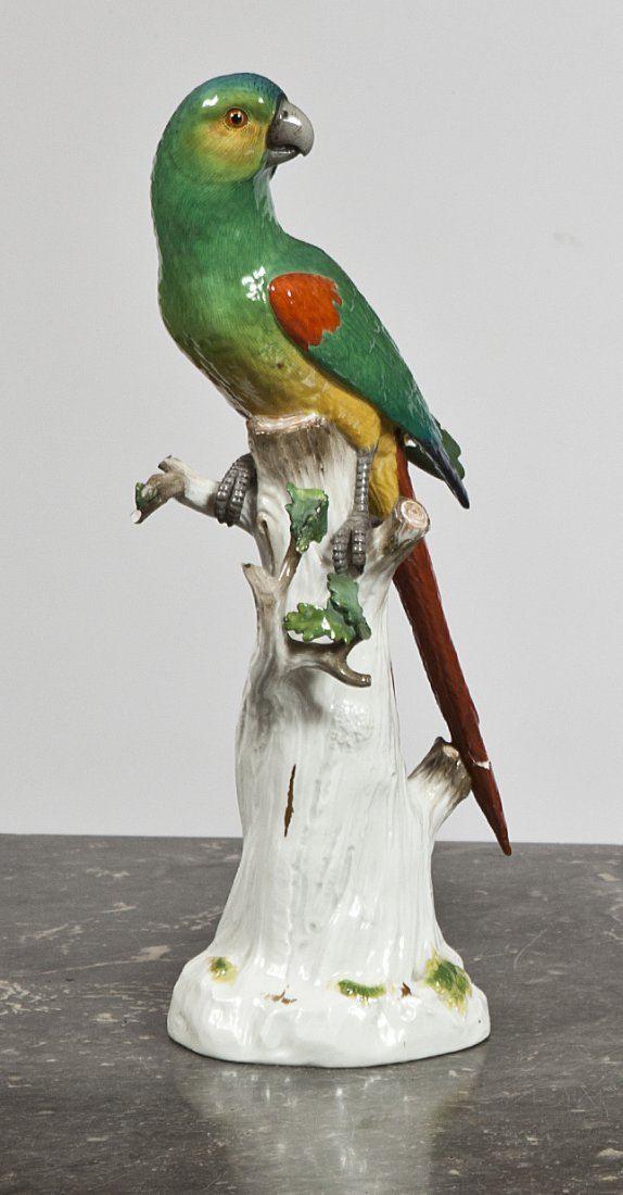 9: A Meissen model of a South American Parrot,