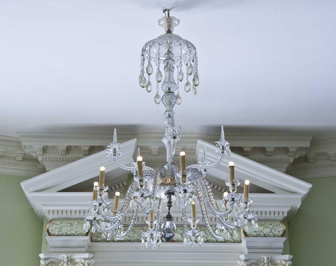 19: A fine cut-glass ten-light Chandelier,