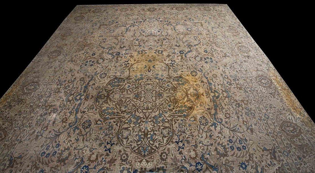 21: A Kashan or Tabriz Carpet,