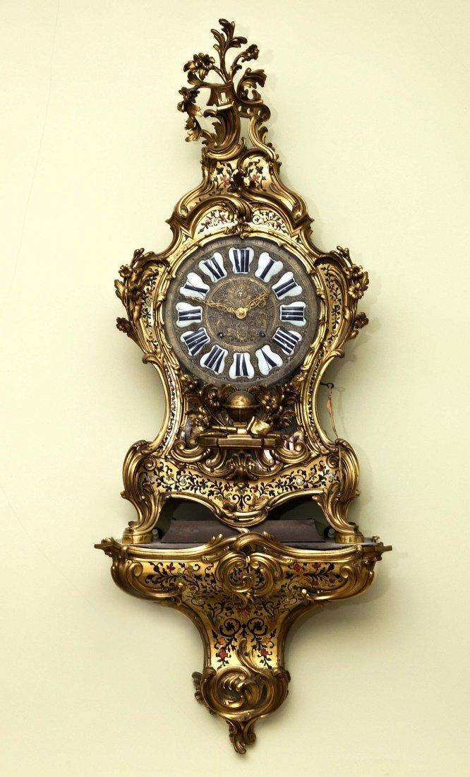 75: A Louis XV ormolu-mounted contre-partie Boulle Brac