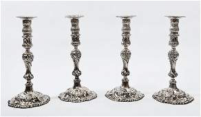 397: A set of four Table Candlesticks,
