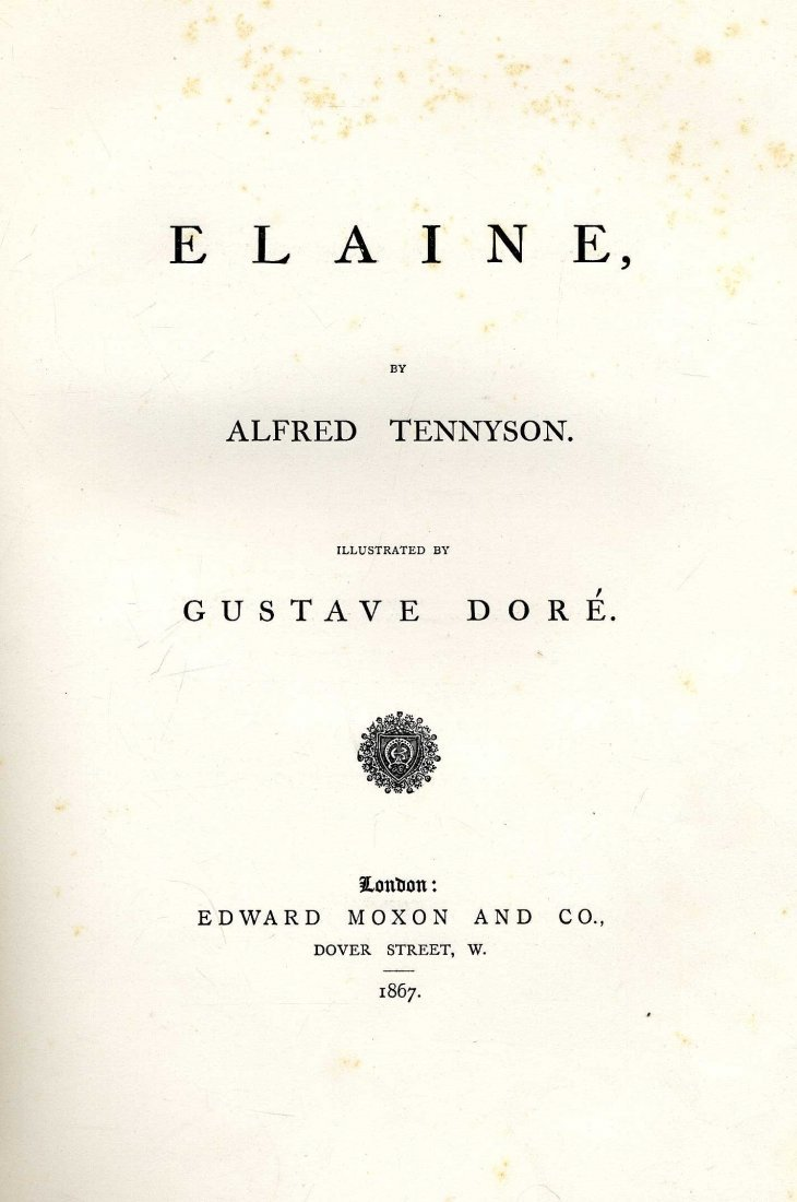 609: Music & Illustrated items: Tennyson (Alfred) Elain