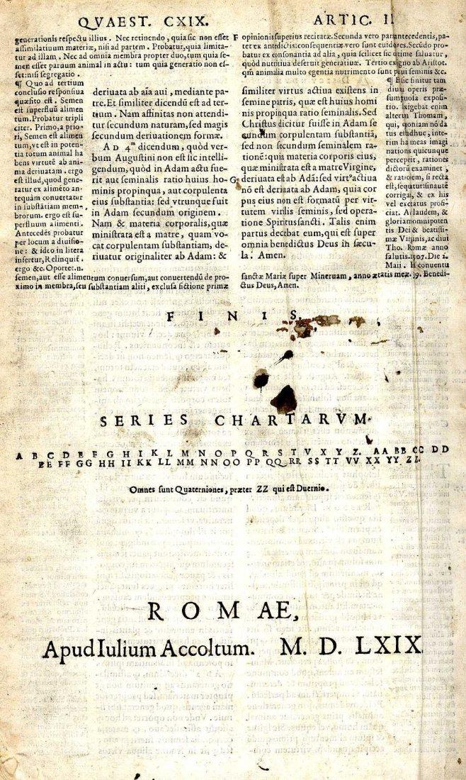 615: Early Printing: St. Thomas Aquinas, Prima Pars Sum