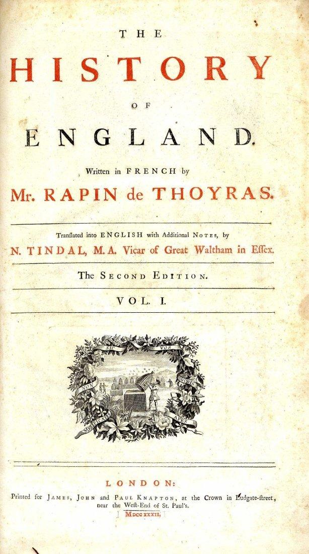 617: Tindal (N.)ed & trans. The History of England, Wri