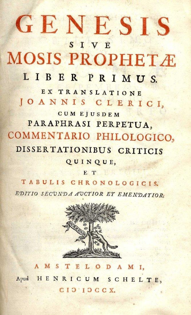 618: Clerici (Joannis) Genesis sive Mosis Prophetae… Co
