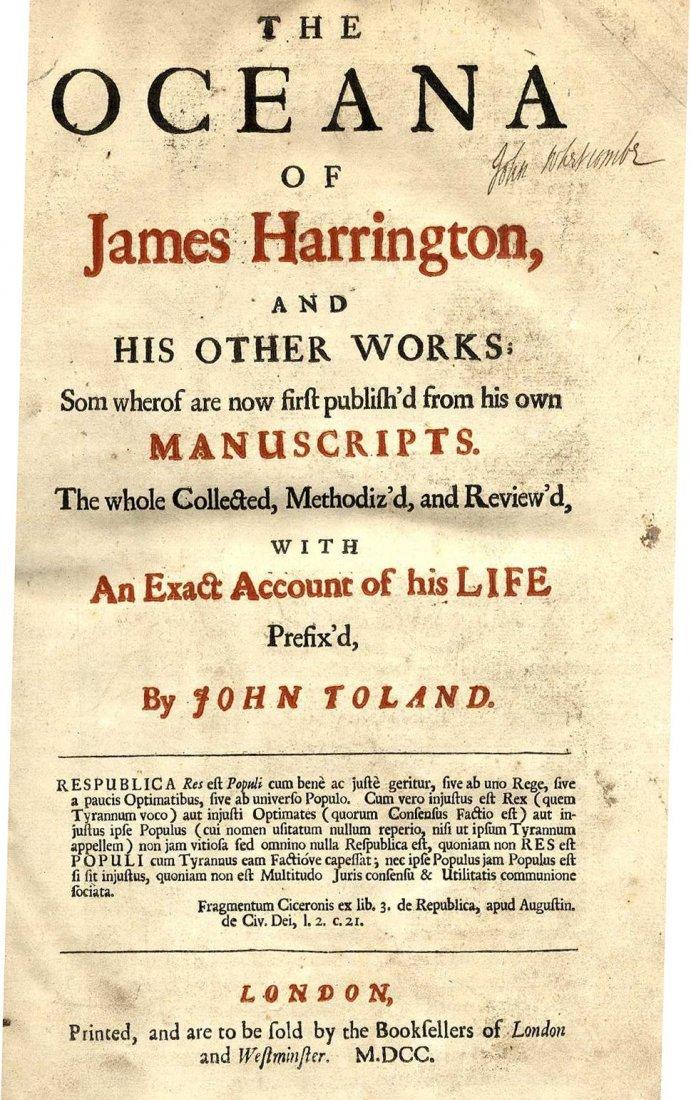 619: Harrington (James) The Oceana of James Harrington