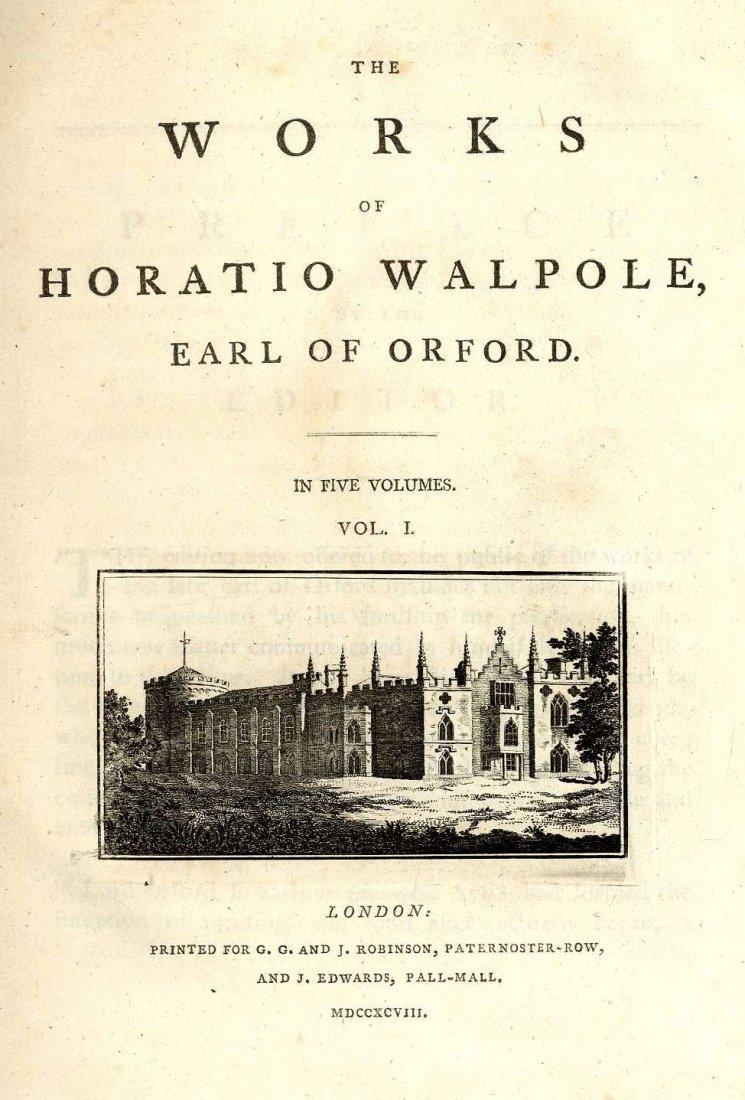 620: Walpole - The Works of Horatio Walpole, Earl of Or