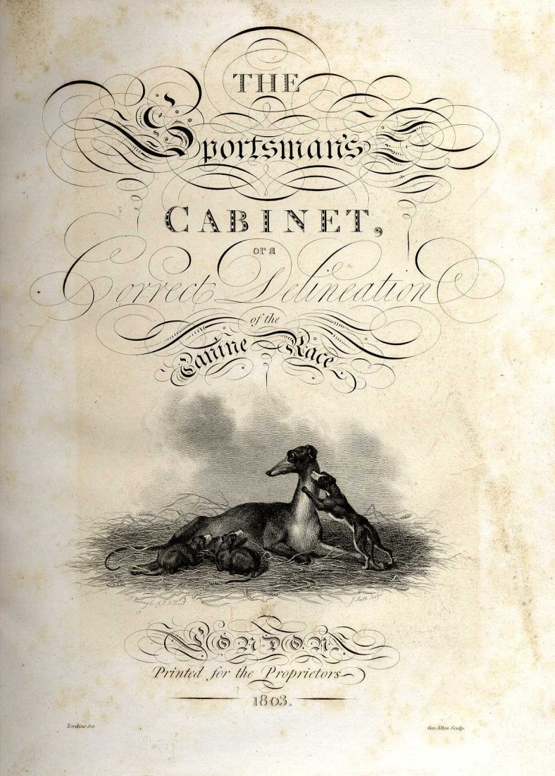 621: [Taplin (W.)]  The Sportsman's Cabinet; or, A Corr