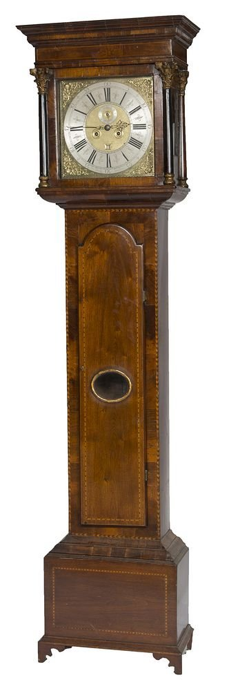 A VERY FINE EIGHT DAY WALNUT LONGCASE CLOCK, by George