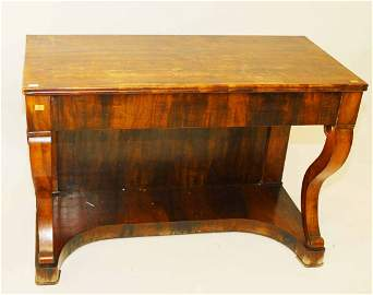 A 19TH CENTURY CONTINENTAL WALNUT SIDE TABLE  or