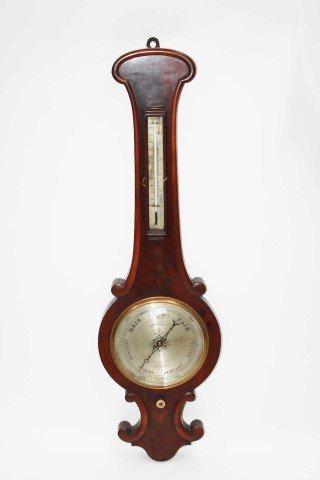 A MAHOGANY WHEEL BAROMETER,  Victorian, by Mason & Son,