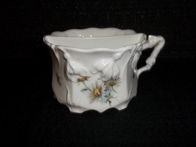 5: Hand Painted China Mustache Cup